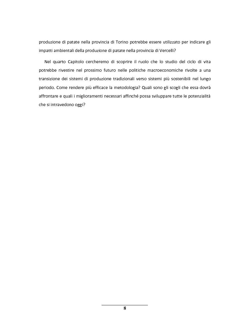 Anteprima della tesi: La metodologia LCA (Life Cycle Analysis). Sfide e potenzialità per il futuro., Pagina 4