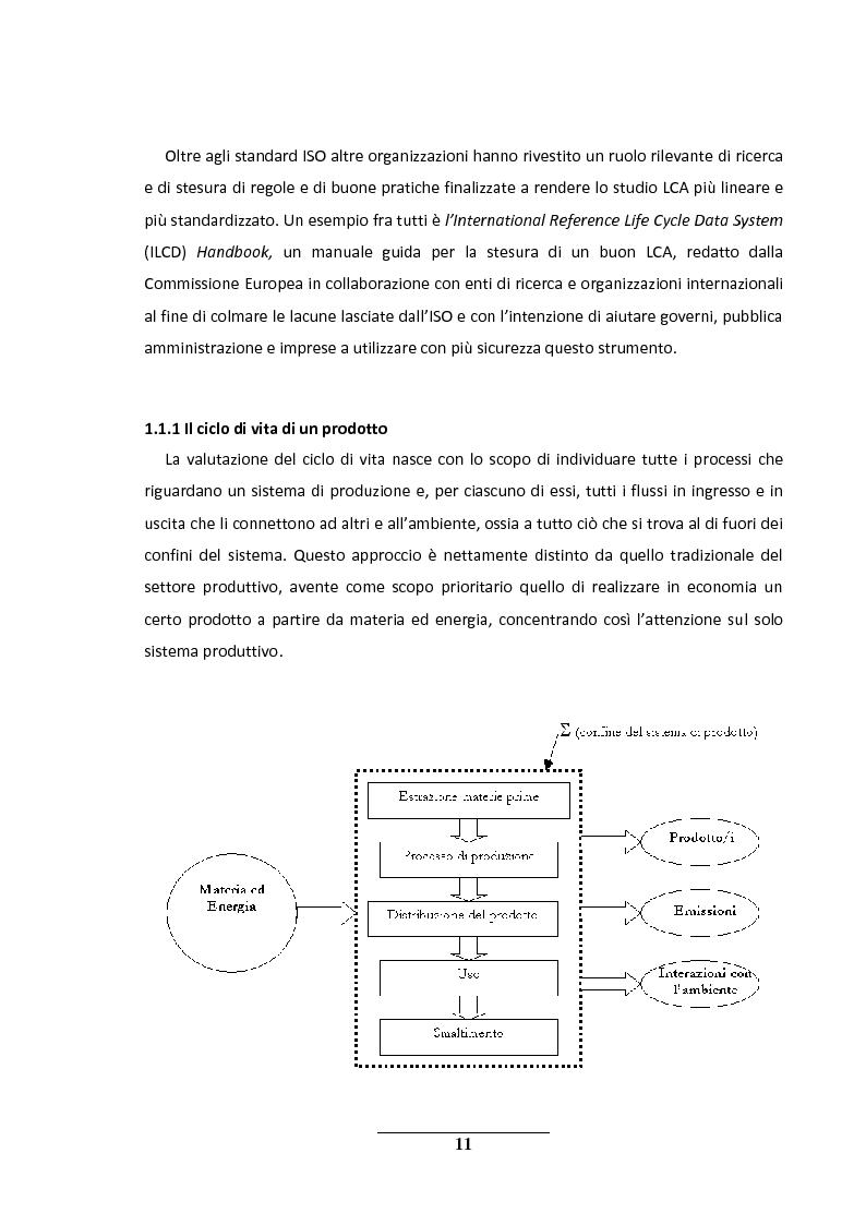Anteprima della tesi: La metodologia LCA (Life Cycle Analysis). Sfide e potenzialità per il futuro., Pagina 7