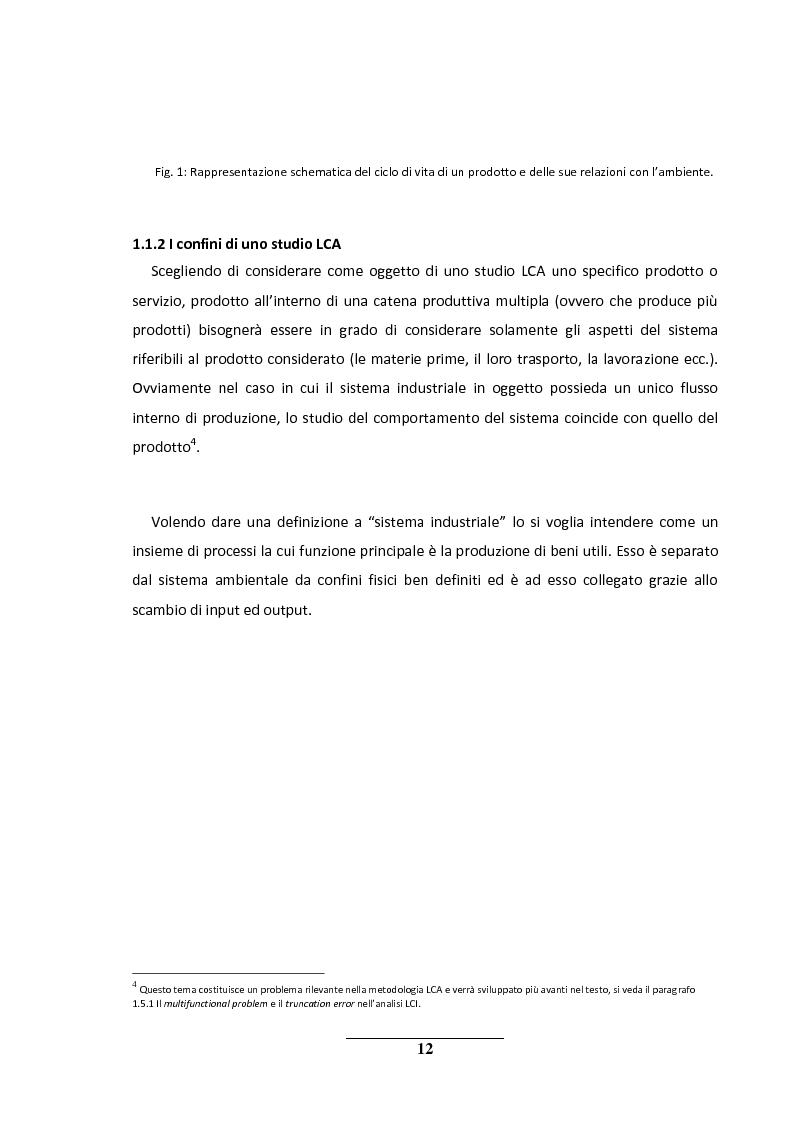 Anteprima della tesi: La metodologia LCA (Life Cycle Analysis). Sfide e potenzialità per il futuro., Pagina 8