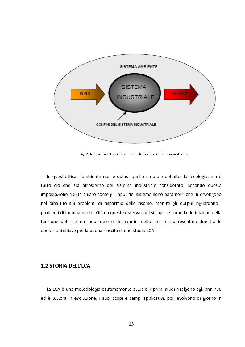 Anteprima della tesi: La metodologia LCA (Life Cycle Analysis). Sfide e potenzialità per il futuro., Pagina 9