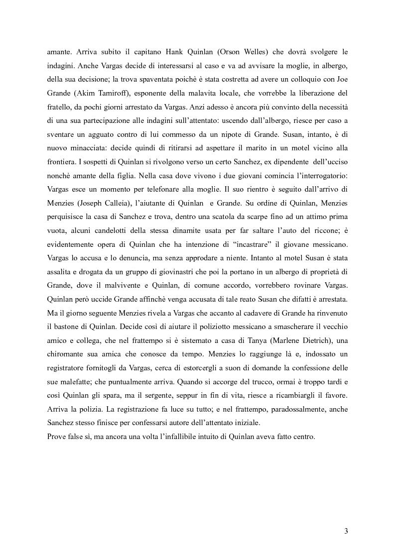 Anteprima della tesi: Touches of Evil: due versioni a confronto de L'Infernale Quinlan di Orson Welles, Pagina 3