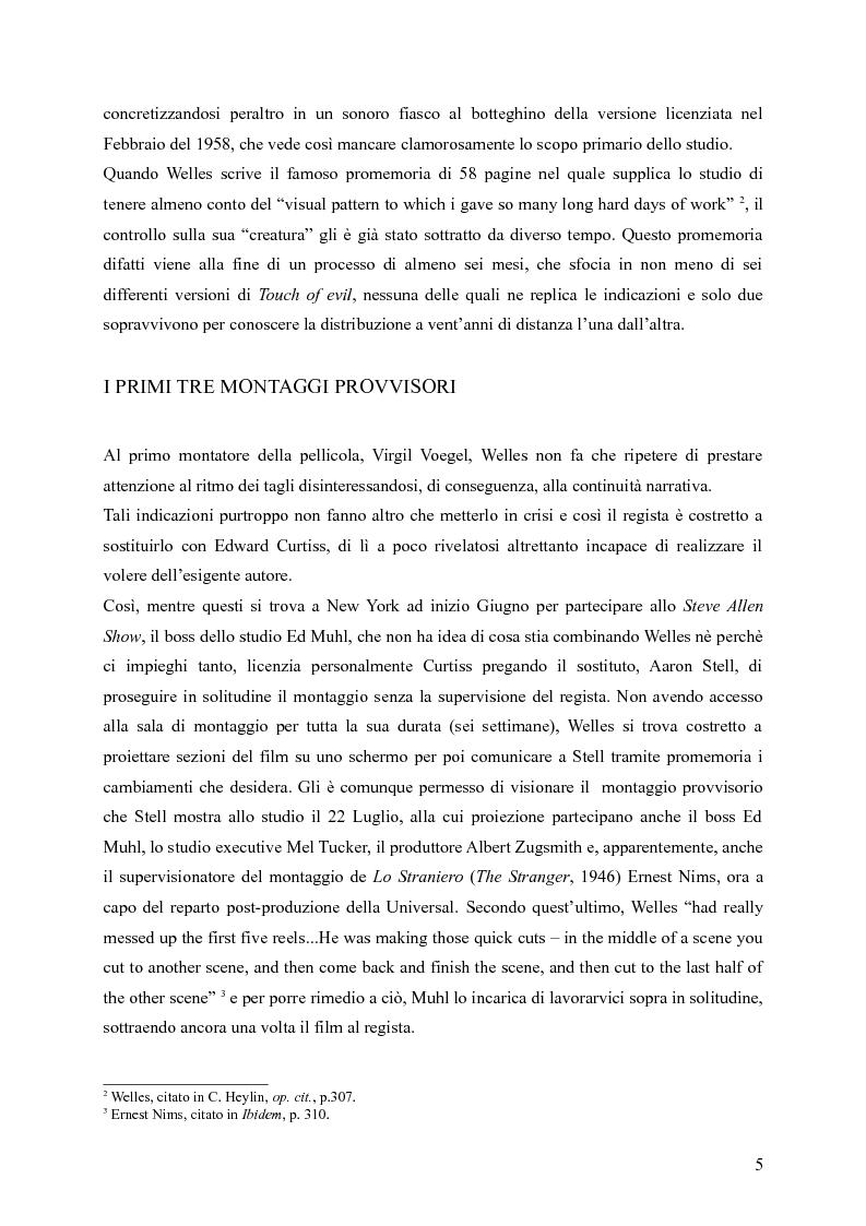 Anteprima della tesi: Touches of Evil: due versioni a confronto de L'Infernale Quinlan di Orson Welles, Pagina 5