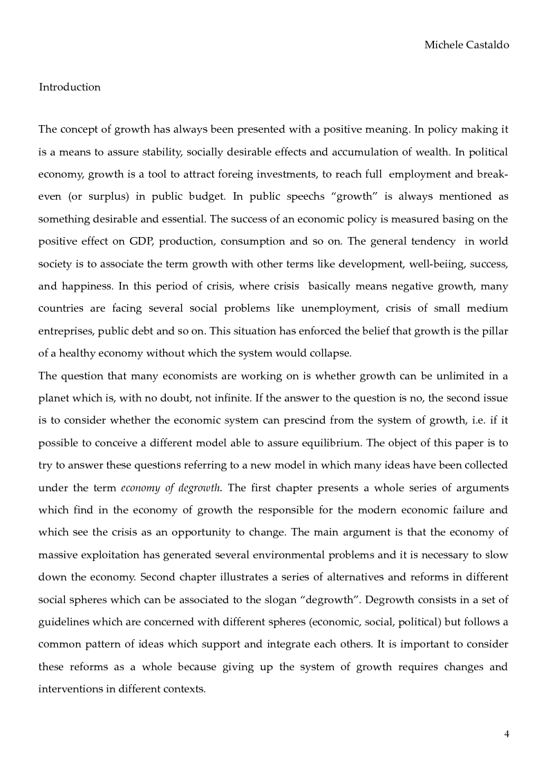 Anteprima della tesi: Economy of Degrowth: Theories and Perspectives, Pagina 2