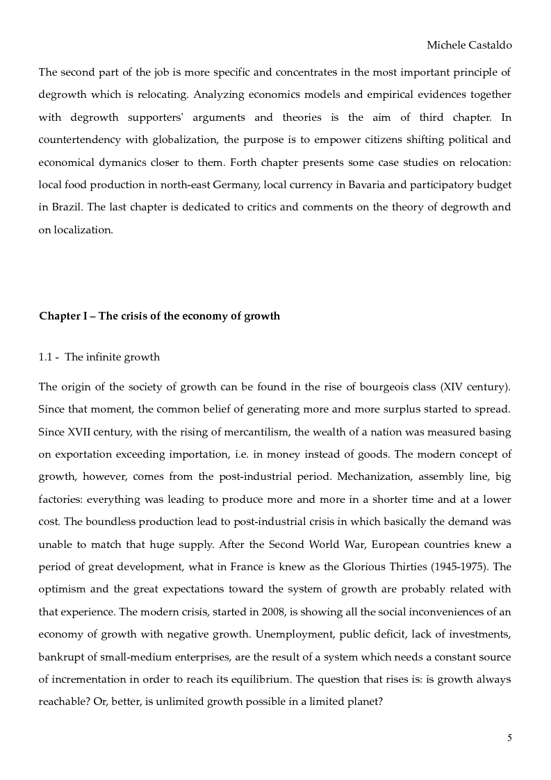 Anteprima della tesi: Economy of Degrowth: Theories and Perspectives, Pagina 3