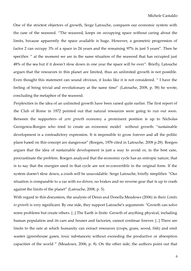 Anteprima della tesi: Economy of Degrowth: Theories and Perspectives, Pagina 4