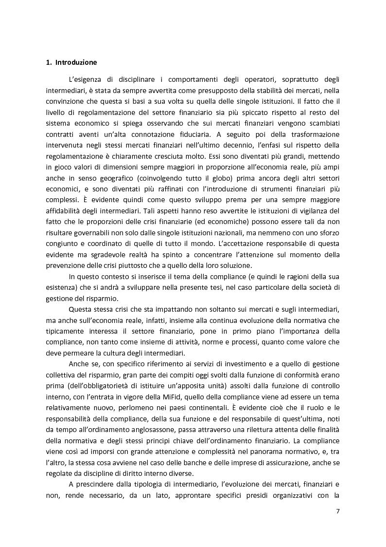 Anteprima della tesi: La Compliance nella SGR, Pagina 2
