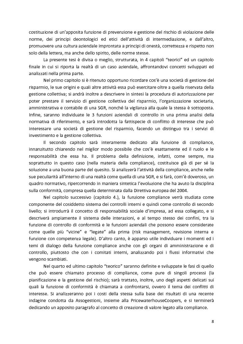 Anteprima della tesi: La Compliance nella SGR, Pagina 3