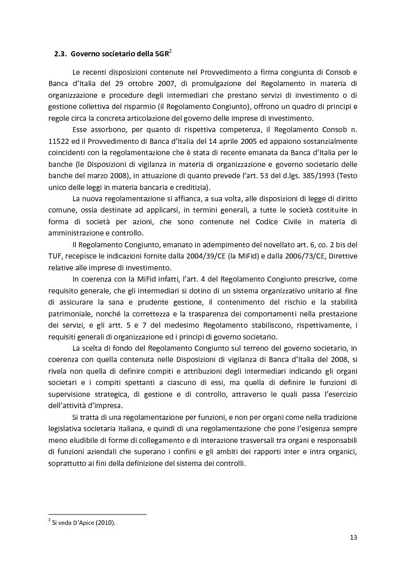 Anteprima della tesi: La Compliance nella SGR, Pagina 8