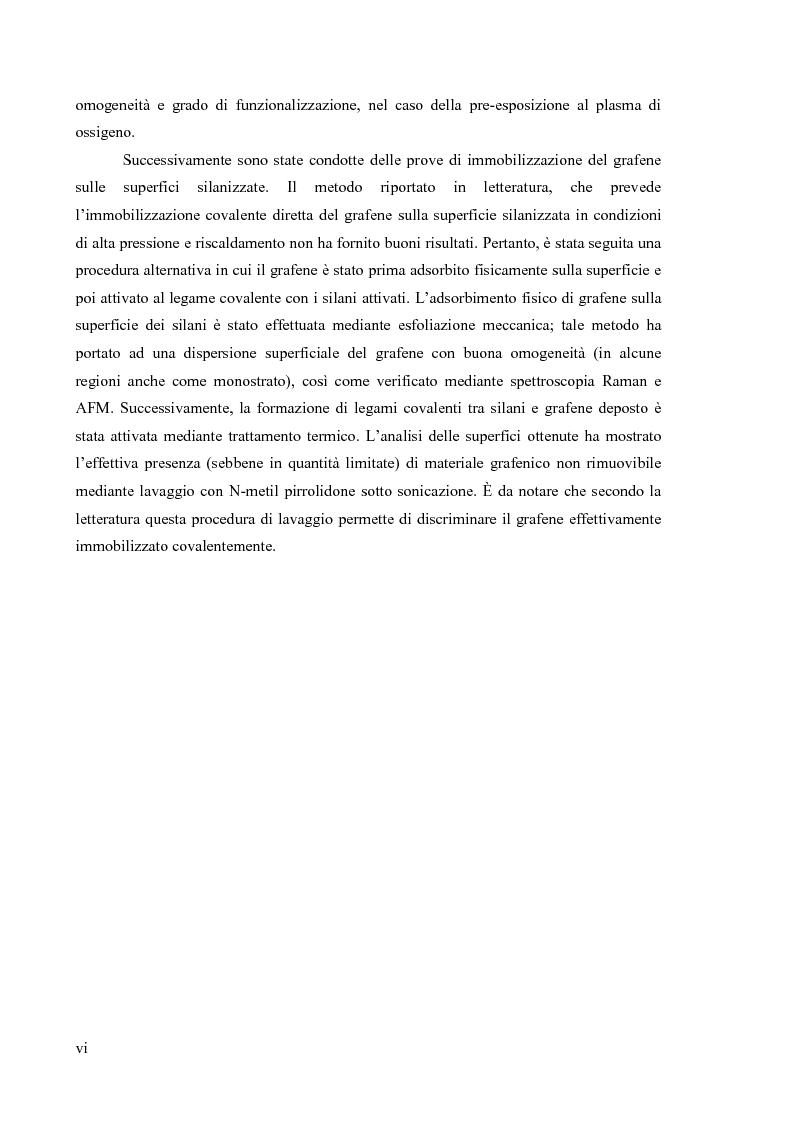 Anteprima della tesi: Preparazione di organo(trialcossi)silani e loro impiego nella funzionalizzazione superficiale di ossido di silicio per immobilizzazione covalente di grafene, Pagina 3