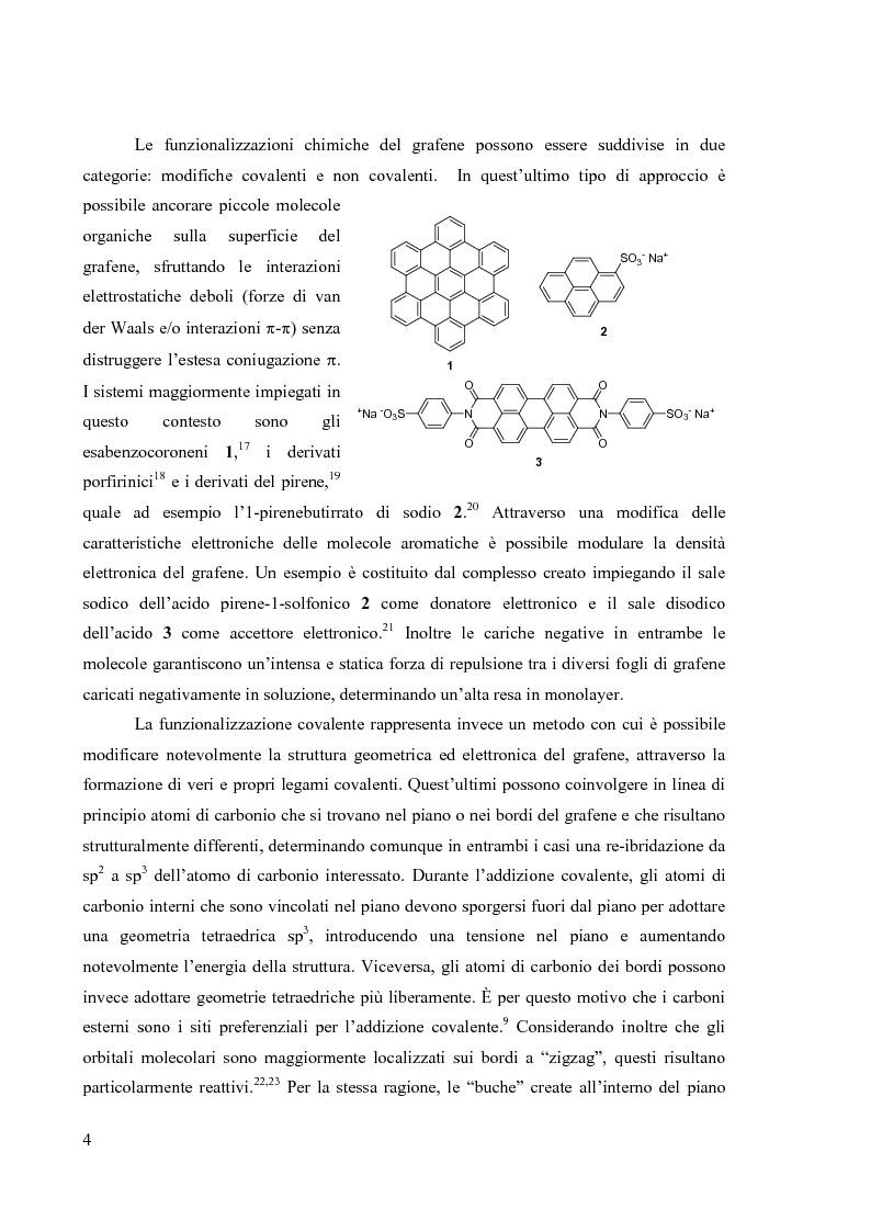 Anteprima della tesi: Preparazione di organo(trialcossi)silani e loro impiego nella funzionalizzazione superficiale di ossido di silicio per immobilizzazione covalente di grafene, Pagina 7