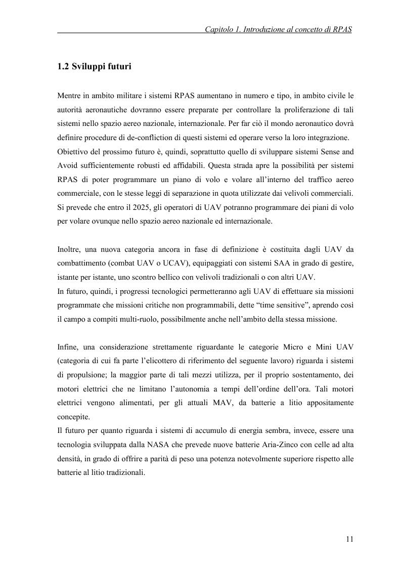 Anteprima della tesi: Modelli di simulazione dinamica, leggi di controllo e strategie di Sense and Avoid per un Remotely Piloted Air System (RPAS), Pagina 9