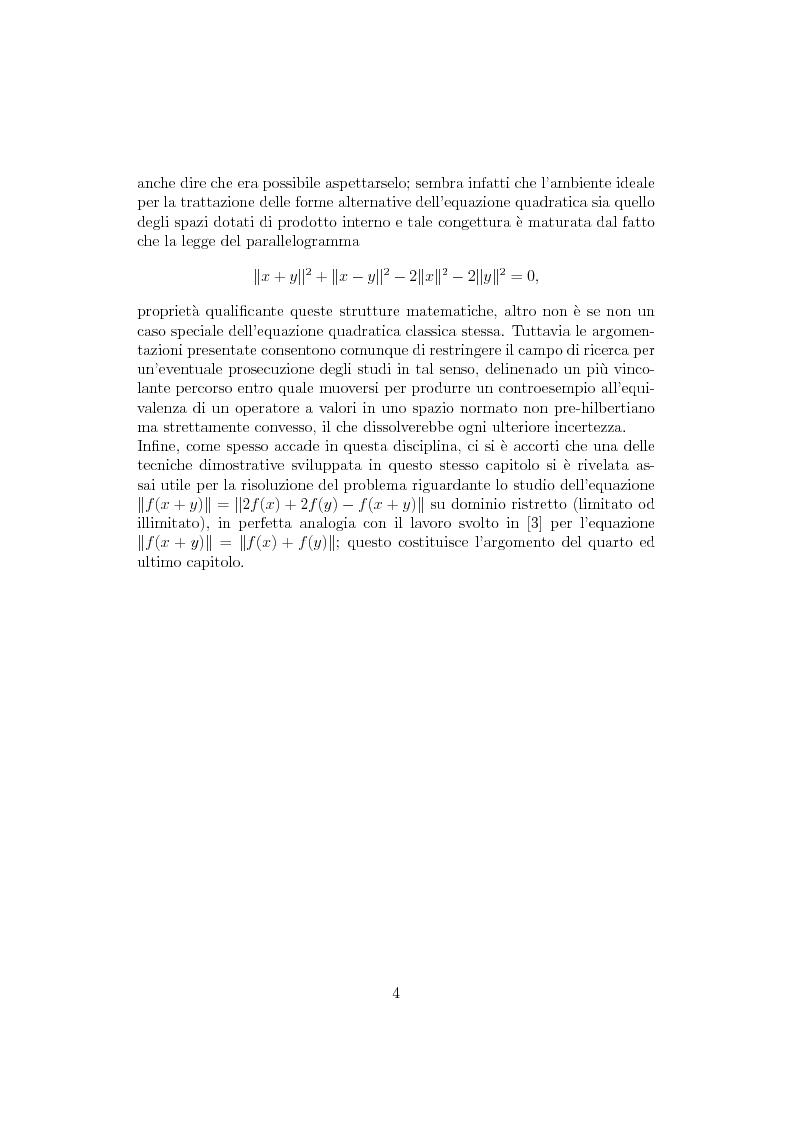 Anteprima della tesi: Sul ruolo della stretta convessità nello studio delle equazioni funzionali alternative, Pagina 3