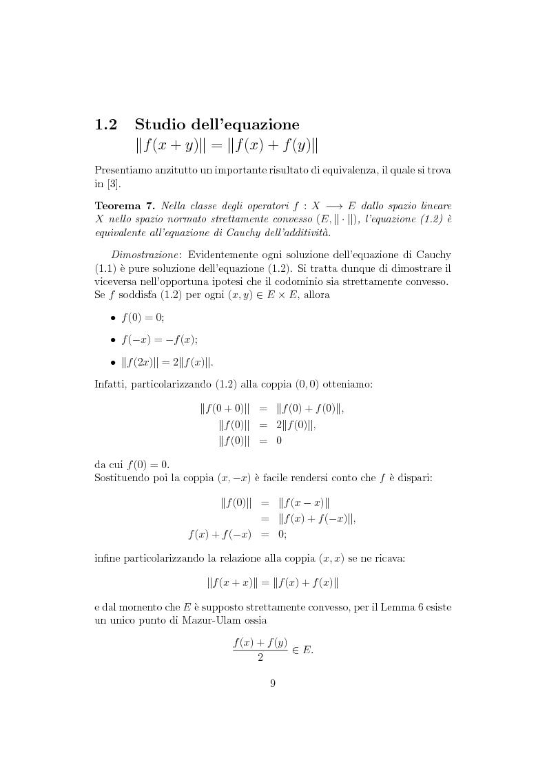Anteprima della tesi: Sul ruolo della stretta convessità nello studio delle equazioni funzionali alternative, Pagina 8