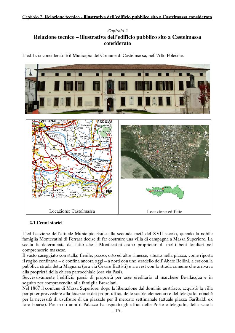 Anteprima della tesi: Efficienza Energetica degli edifici storici - Riqualificazione Della sede municipale di Castelmassa, Pagina 10