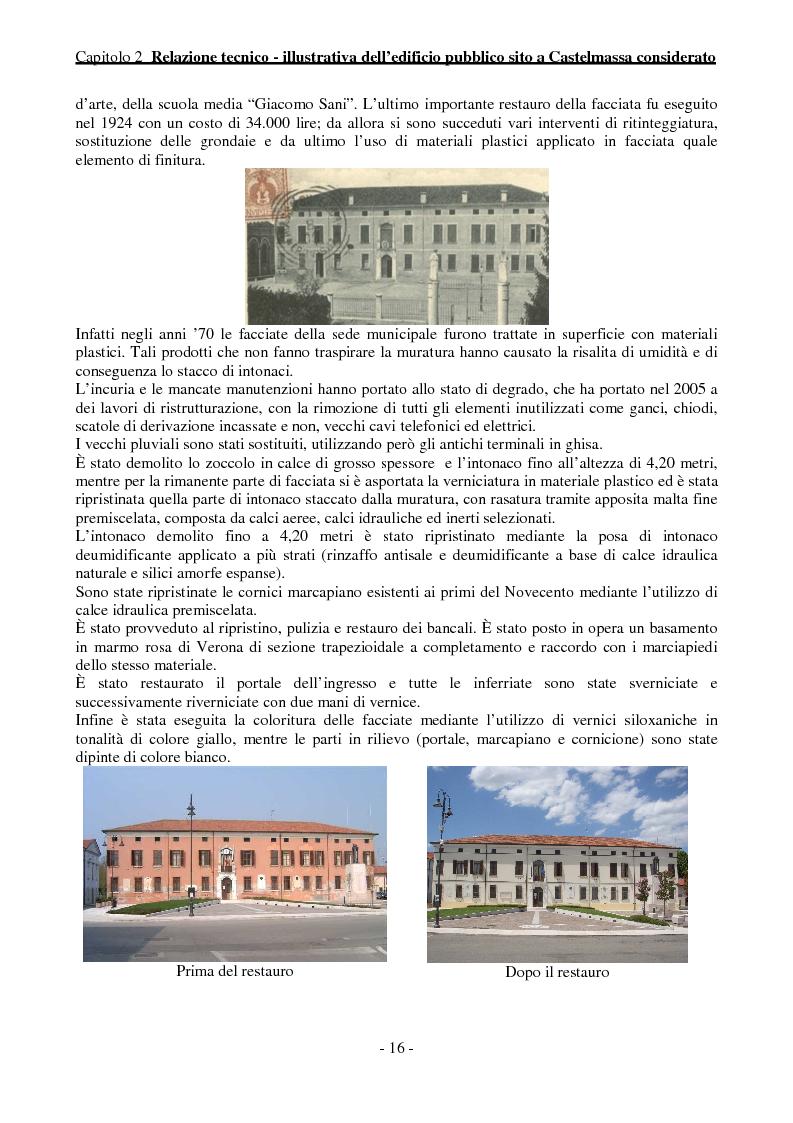 Anteprima della tesi: Efficienza Energetica degli edifici storici - Riqualificazione Della sede municipale di Castelmassa, Pagina 11