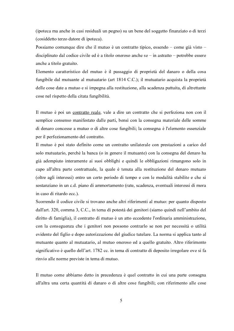 Anteprima della tesi: Il contratto di mutuo - tipologie negoziali, Pagina 3