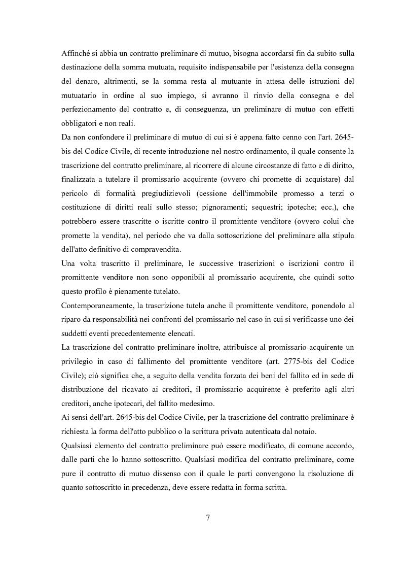 Anteprima della tesi: Il contratto di mutuo - tipologie negoziali, Pagina 5