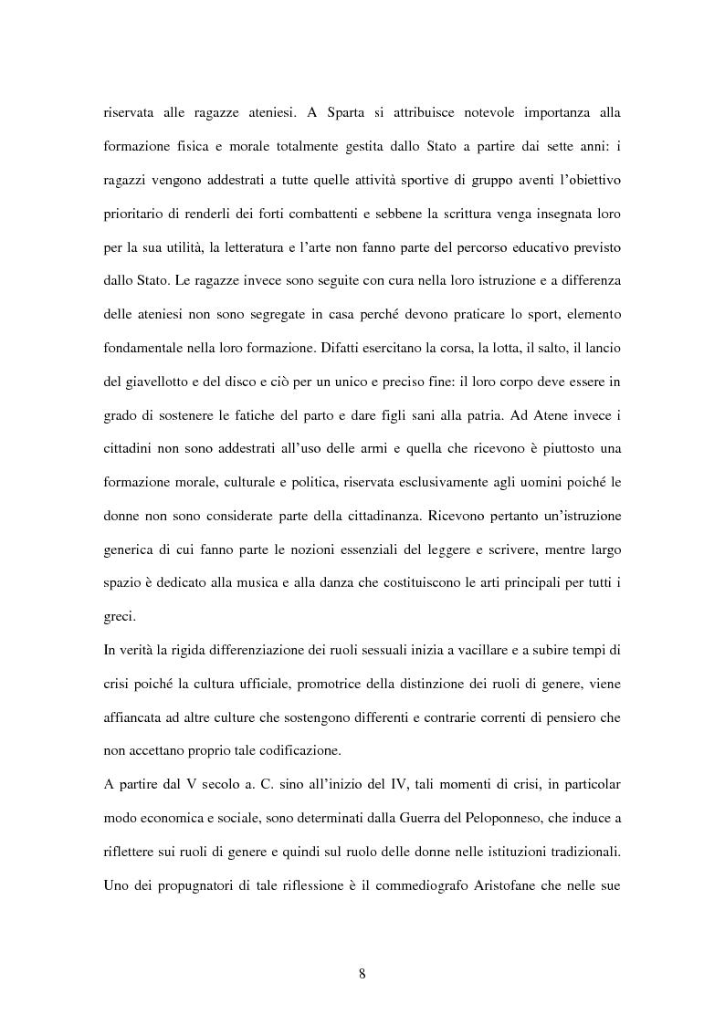 Anteprima della tesi: ''Educate al Silenzio''. Sguardo storico-pedagogico sull'educazione delle bambine per la promozione di una cultura delle pari opportunità, Pagina 6