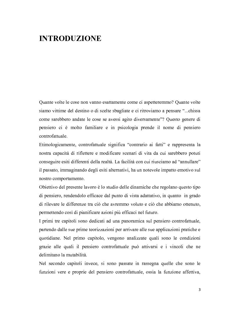 Anteprima della tesi: Il pensiero controfattuale: come controllabilità e moralità influenzano la creazione di alternative alla realtà, Pagina 2