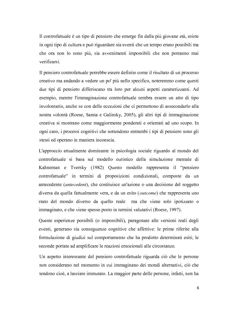 Anteprima della tesi: Il pensiero controfattuale: come controllabilità e moralità influenzano la creazione di alternative alla realtà, Pagina 5