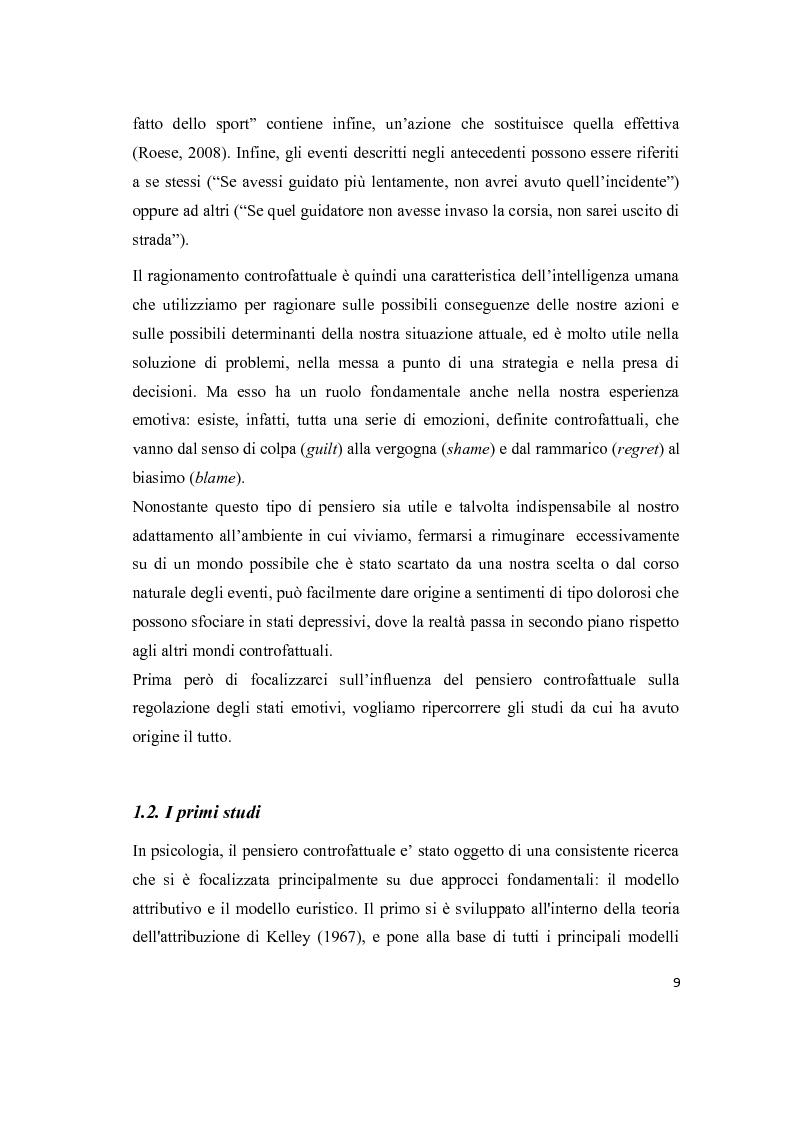Anteprima della tesi: Il pensiero controfattuale: come controllabilità e moralità influenzano la creazione di alternative alla realtà, Pagina 8