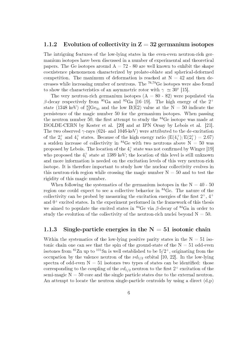Anteprima della tesi: Beta decay studies close to the doubly-magic nucleus 78Ni, Pagina 7