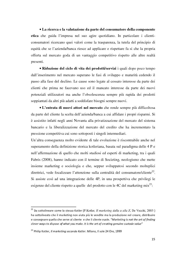 Anteprima della tesi: Le Nuove Strategie di Marketing e Comunicazione nel settore Bancario, Pagina 11