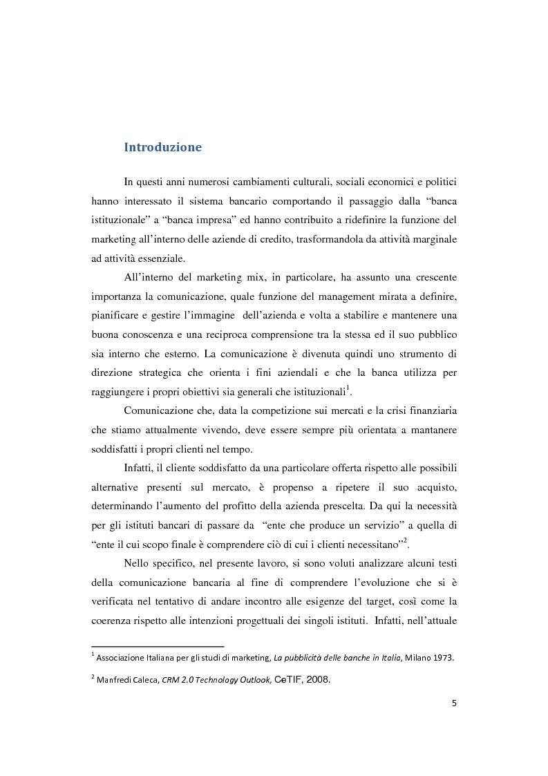 Anteprima della tesi: Le Nuove Strategie di Marketing e Comunicazione nel settore Bancario, Pagina 2