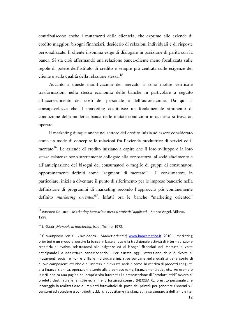 Anteprima della tesi: Le Nuove Strategie di Marketing e Comunicazione nel settore Bancario, Pagina 8