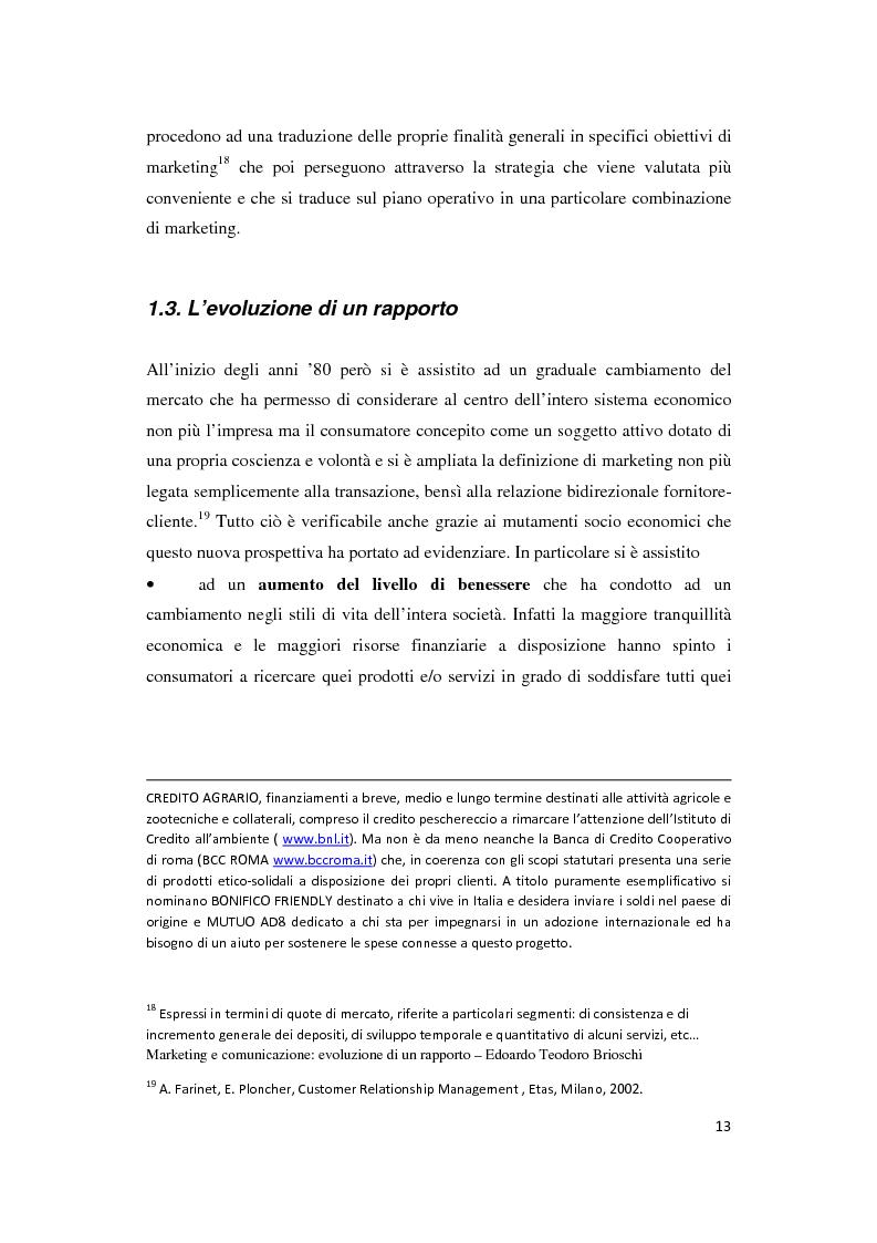 Anteprima della tesi: Le Nuove Strategie di Marketing e Comunicazione nel settore Bancario, Pagina 9