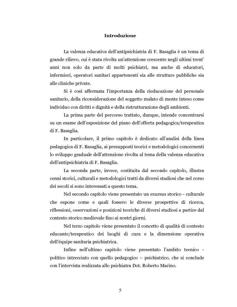 Anteprima della tesi: Un'intramontabile utopia - La valenza educativa dell'antipsichiatria di Franco Basaglia, Pagina 2
