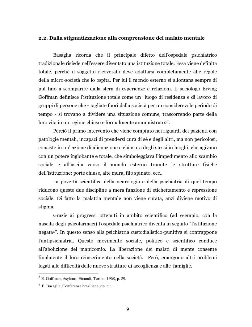 Anteprima della tesi: Un'intramontabile utopia - La valenza educativa dell'antipsichiatria di Franco Basaglia, Pagina 6