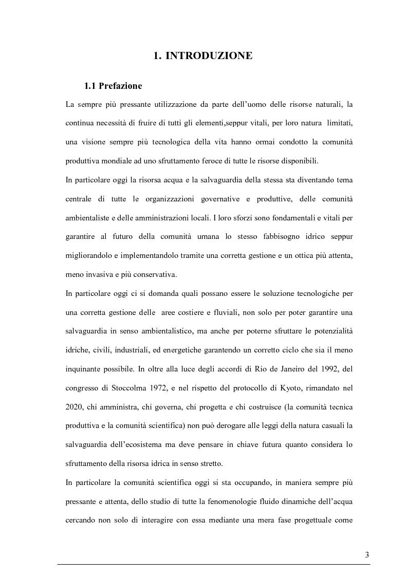 Anteprima della tesi: Misure su canali vegetati: taratura di un nuovo sistema di misura delle velocità istantanee e primi risultati, Pagina 2