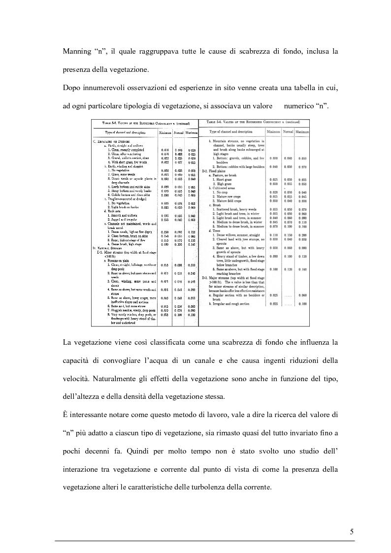 Anteprima della tesi: Misure su canali vegetati: taratura di un nuovo sistema di misura delle velocità istantanee e primi risultati, Pagina 4