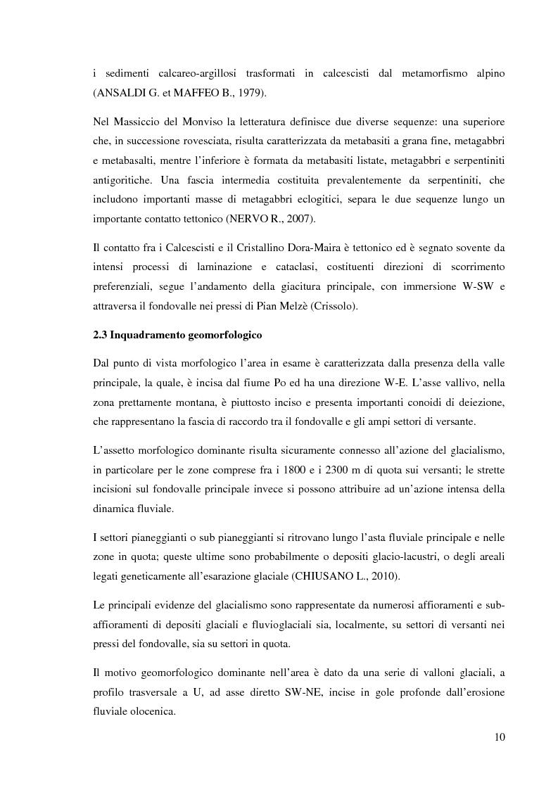 Anteprima della tesi: Caratterizzazione climatica e analisi del fenomeno valanghivo in Alta Valle Po attraverso la realizzazione della Carta di Localizzazione Probabile delle Valanghe, Pagina 11