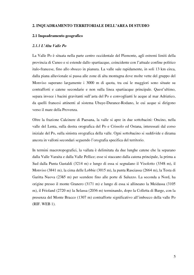 Anteprima della tesi: Caratterizzazione climatica e analisi del fenomeno valanghivo in Alta Valle Po attraverso la realizzazione della Carta di Localizzazione Probabile delle Valanghe, Pagina 6