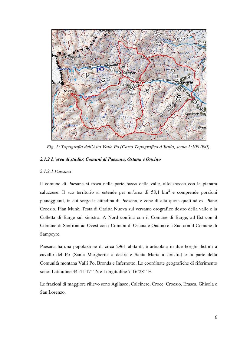 Anteprima della tesi: Caratterizzazione climatica e analisi del fenomeno valanghivo in Alta Valle Po attraverso la realizzazione della Carta di Localizzazione Probabile delle Valanghe, Pagina 7