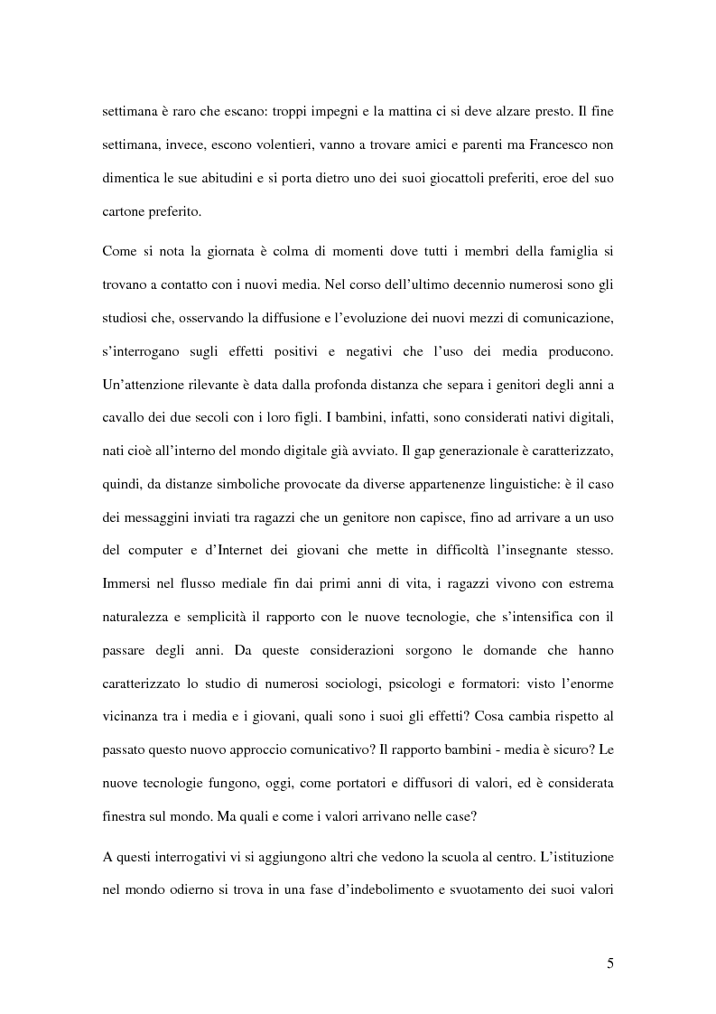 Anteprima della tesi: I passi della Media Education nella scuola primaria, Pagina 3
