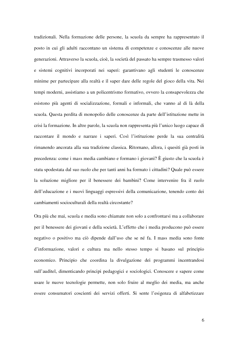 Anteprima della tesi: I passi della Media Education nella scuola primaria, Pagina 4