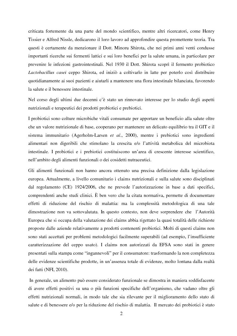 Anteprima della tesi: Valutazione del potenziale probiotico di ceppi di Lactobacillus isolati da Parmigiano-reggiano mediante screening sottrattivo, Pagina 3