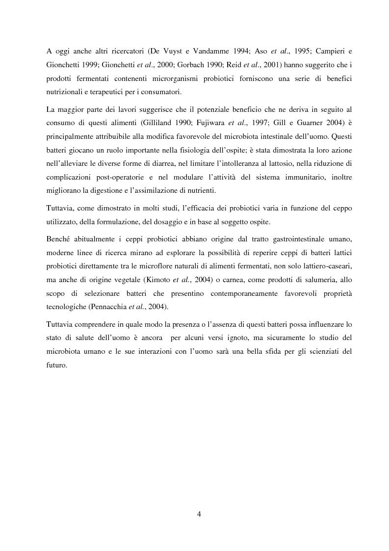 Anteprima della tesi: Valutazione del potenziale probiotico di ceppi di Lactobacillus isolati da Parmigiano-reggiano mediante screening sottrattivo, Pagina 5
