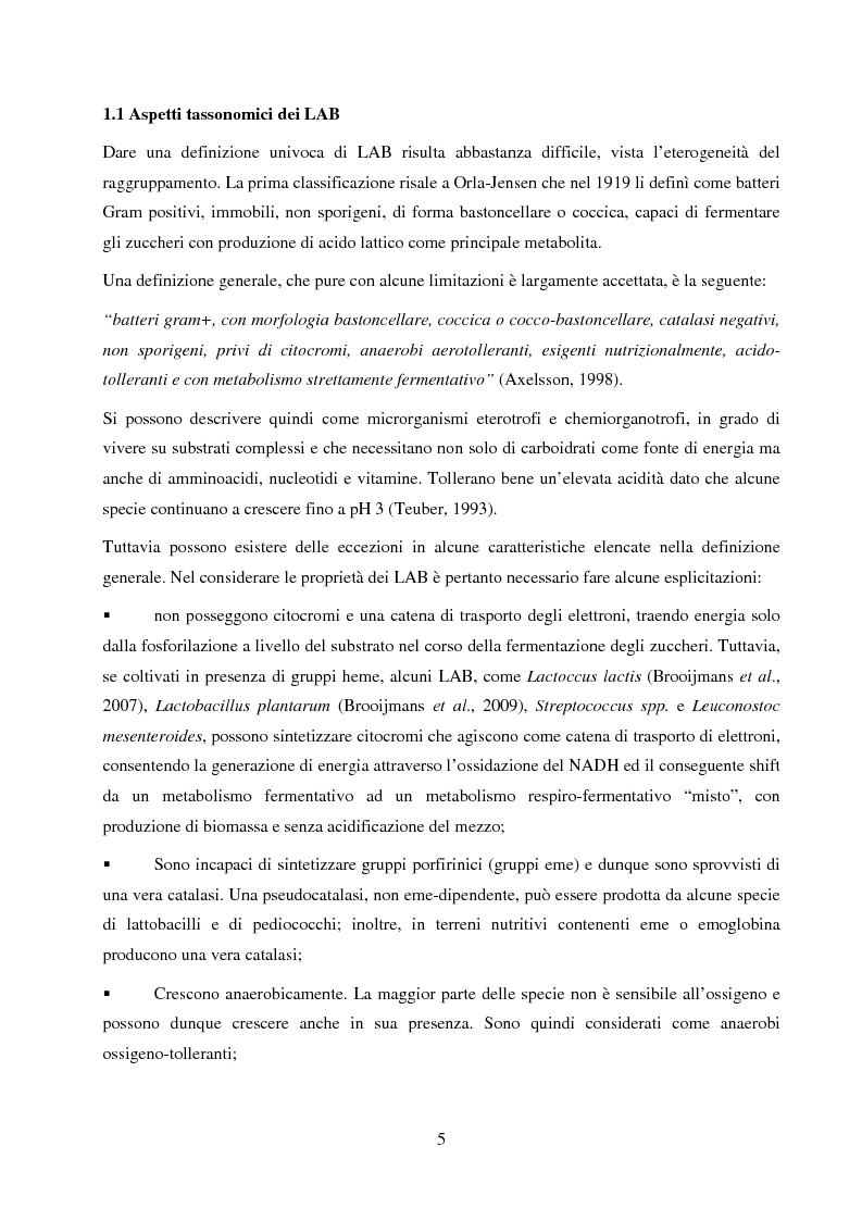 Anteprima della tesi: Valutazione del potenziale probiotico di ceppi di Lactobacillus isolati da Parmigiano-reggiano mediante screening sottrattivo, Pagina 6