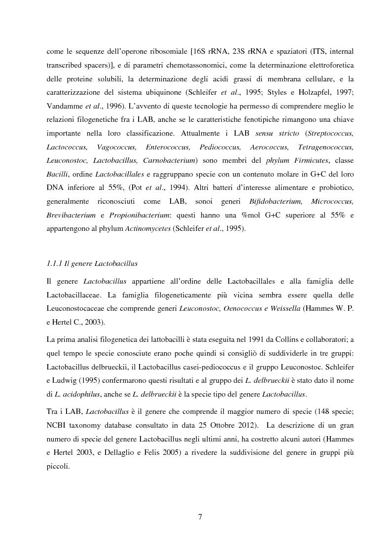 Anteprima della tesi: Valutazione del potenziale probiotico di ceppi di Lactobacillus isolati da Parmigiano-reggiano mediante screening sottrattivo, Pagina 8