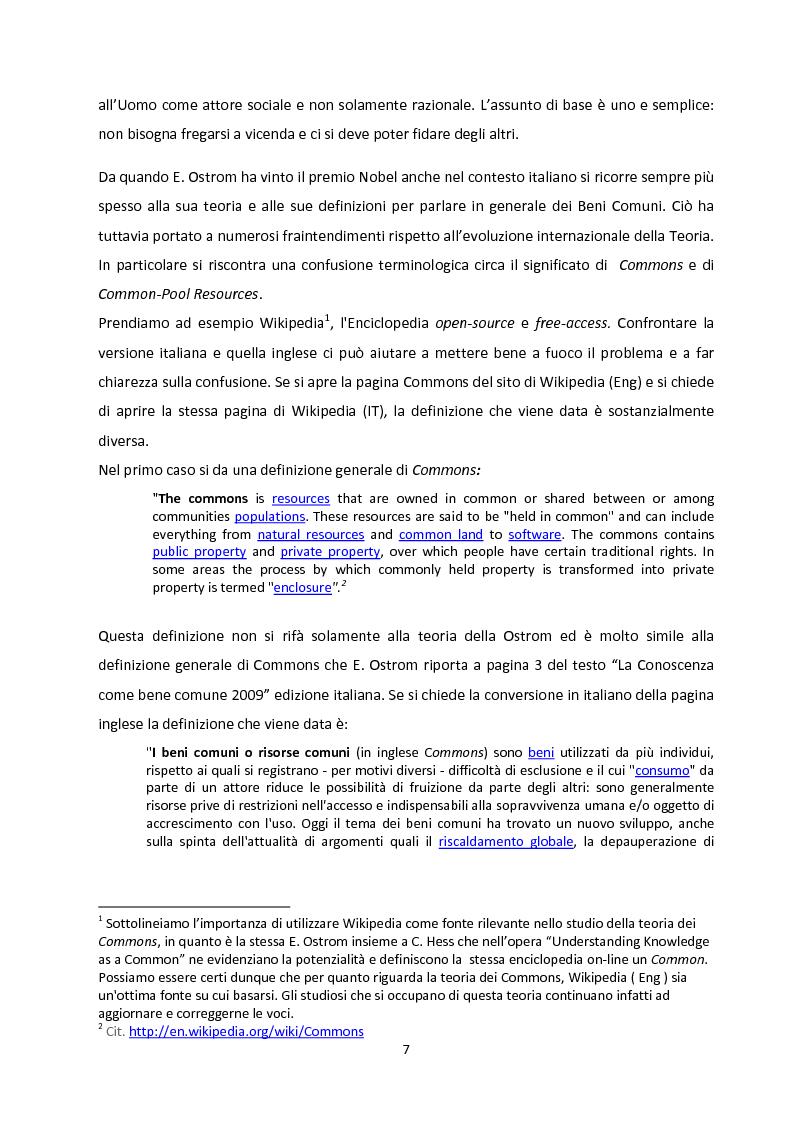 Anteprima della tesi: Oltre la Tragedia dei Beni Comuni: La gestione delle Common-Pool Resources e il Bosco delle Sorti della Partecipanza di Trino, Pagina 4