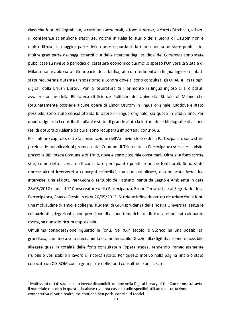Anteprima della tesi: Oltre la Tragedia dei Beni Comuni: La gestione delle Common-Pool Resources e il Bosco delle Sorti della Partecipanza di Trino, Pagina 7
