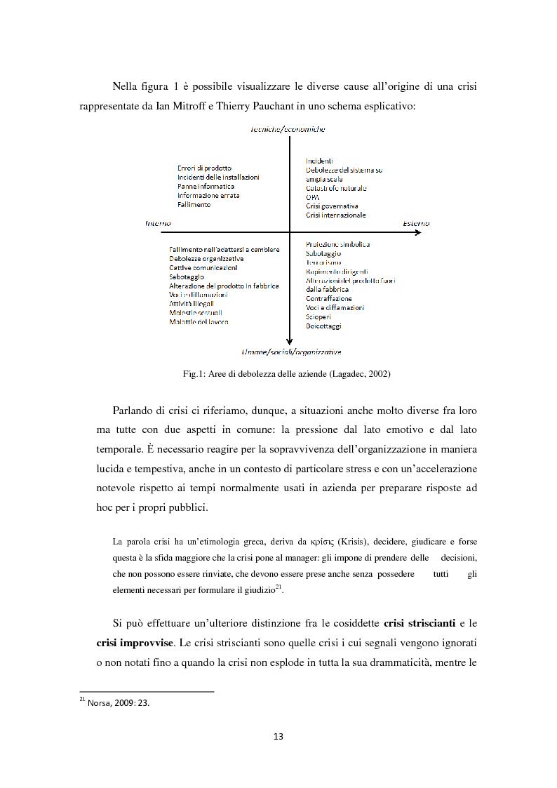 Anteprima della tesi: Prevedere per prevenire. Crisis Management: l'importanza delle fasi di ascolto e monitoraggio e il ruolo del web, Pagina 10