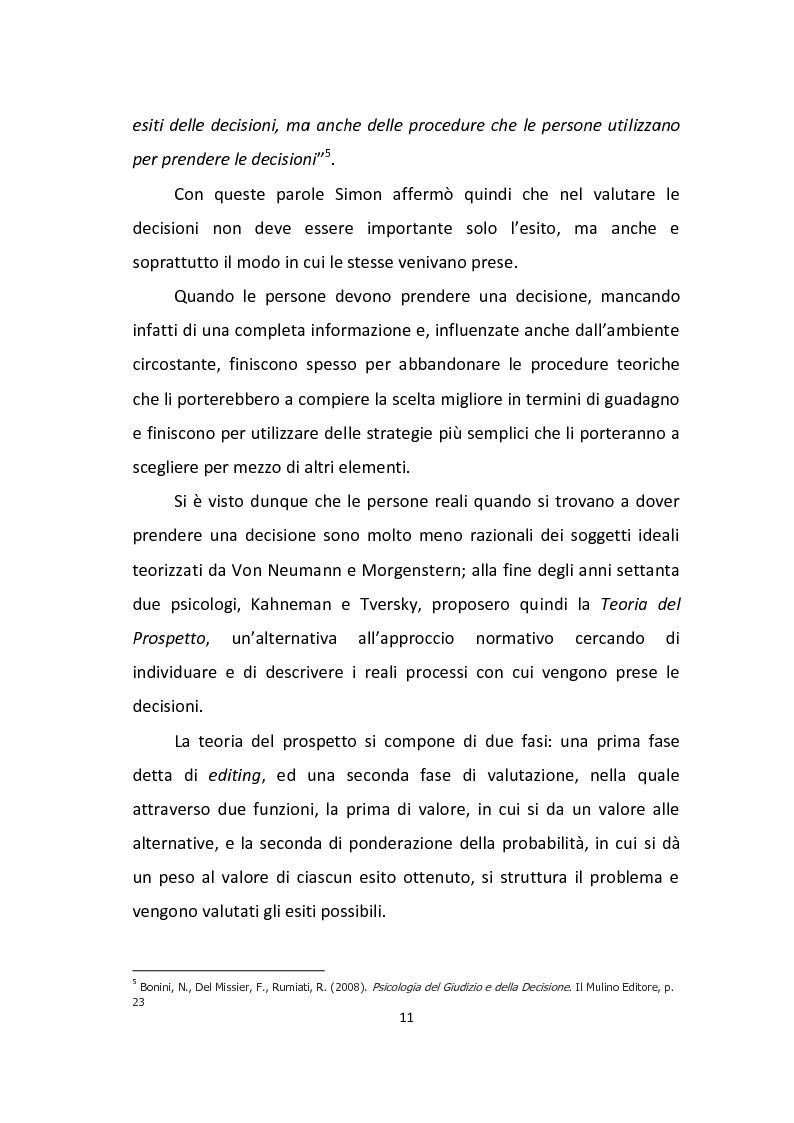 Anteprima della tesi: Finanza comportamentale: emozione, distorsioni cognitive e investimenti etici, Pagina 9