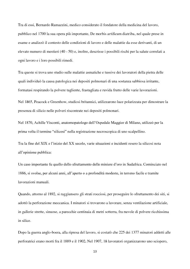Anteprima della tesi: Esposizione a silice cristallina in ambiente lavorativo. Influenza dei sistemi di campionamento e analisi sulla valutazione dell'esposizione professionale e del rispetto dei l imiti massimi consentiti., Pagina 8