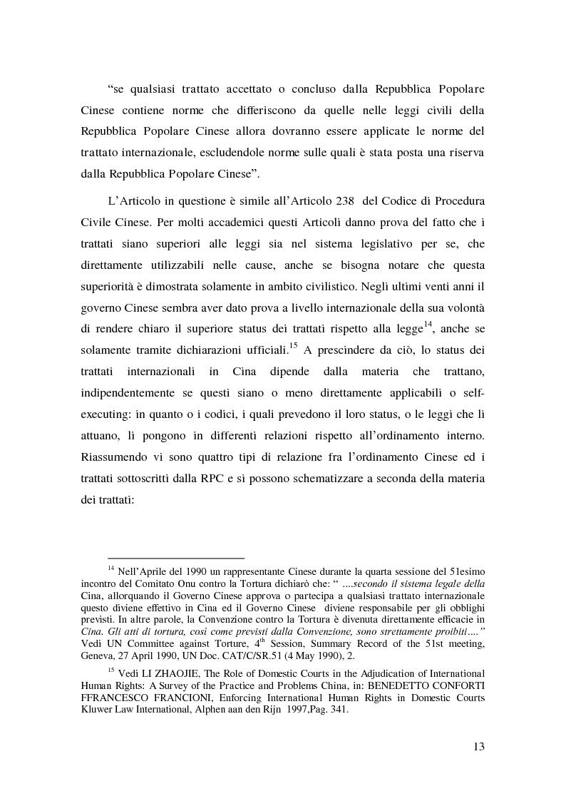 Anteprima della tesi: Il Diritto del Lavoro della Repubblica Popolare Cinese alla luce del diritto internazionale, Pagina 11