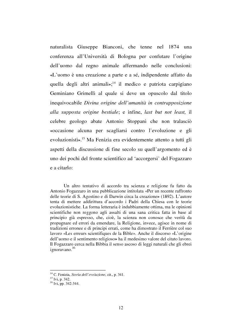 Anteprima della tesi: Ogni plebe m'insulta e rossa e nera - Fogazzaro, la sua arte, la scienza, la Chiesa, Pagina 13